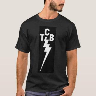 Blanc de TCB sur le noir T-shirt