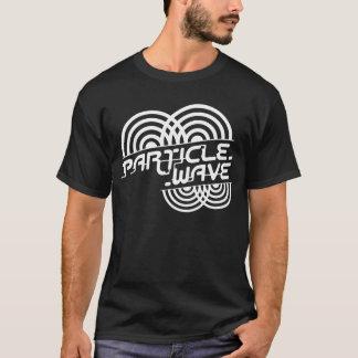 Blanc de vague de particules t-shirt