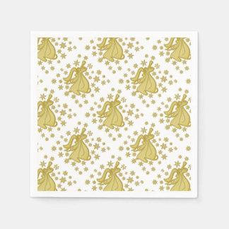 Blanc d'or d'ange serviette en papier