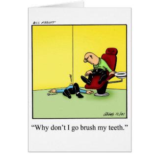 Blanc drôle d'humour de carte de voeux