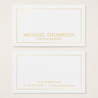Blanc élégant professionnel et or cartes de visite