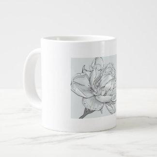 Blanc, enorme, tasse, image, s'est levé, beau mug
