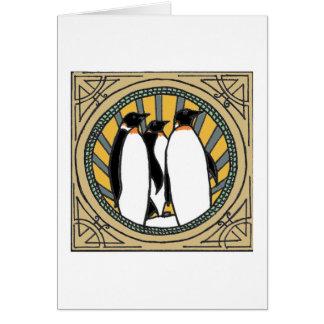 Blanc épique de carte de pingouin