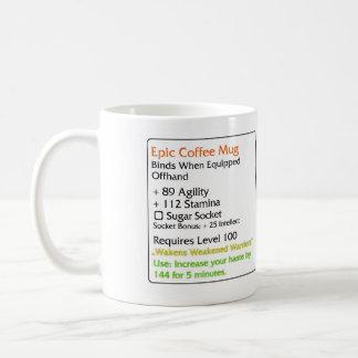 Blanc épique de tasse de café