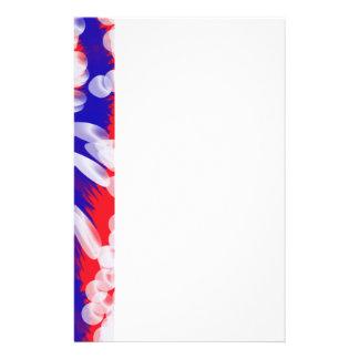 blanc et bleu rouges papeterie
