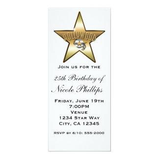 Blanc et invitation de star de Hollywood d'or