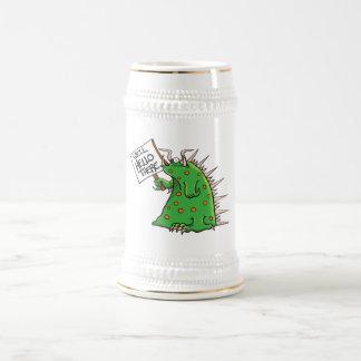 Blanc et or de Greep Stein Chope À Bière