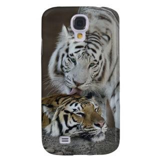 Blanc et repos de tigres de Brown Coque Galaxy S4