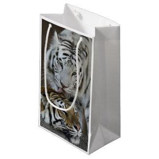 Blanc et repos de tigres de Brown Petit Sac Cadeau