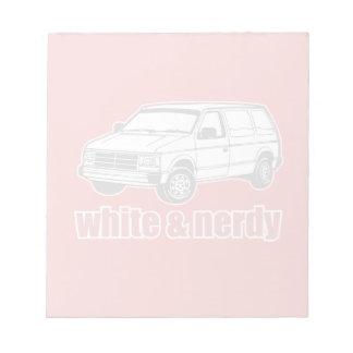 blanc et ringard blocs-notes mémo