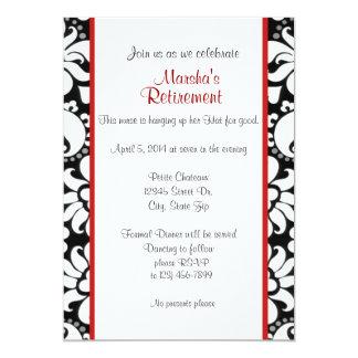 Blanc et rouge noirs carton d'invitation  12,7 cm x 17,78 cm