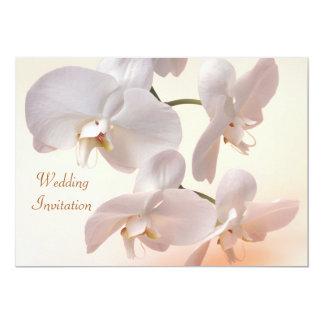 Blanc - faire-part de mariage crème d'orchidées