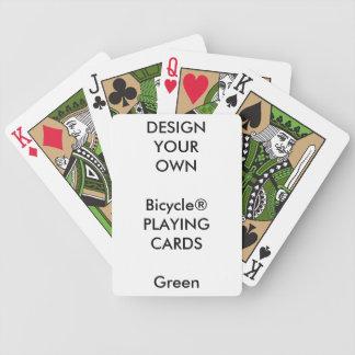 Blanc fait sur commande de cartes de jeu de VERT Jeu De Poker