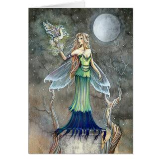 Blanc féerique gothique de ~ de carte de Pegasus