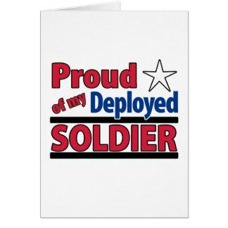Blanc fier de ma carte déployée 2 de soldat