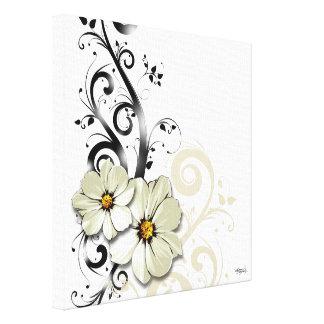Blanc floral fleuri du Flourish | Impressions Sur Toile