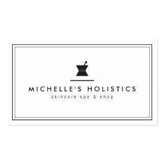 Blanc holistique de médecine d'apothicaire modèles de cartes de visite