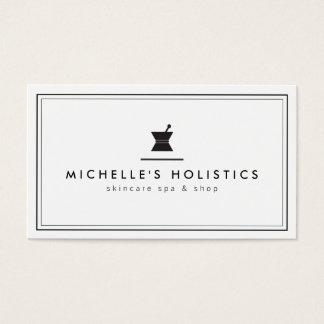 Blanc holistique de médecine d'apothicaire cartes de visite