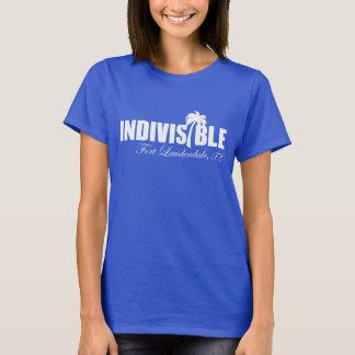 Blanc indivisible de LAUDERDALE de pi - le T-shirt