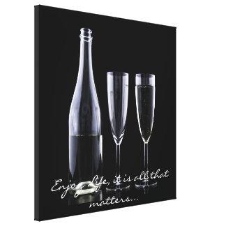 Blanc inspiré de noir de cannelure de Champagne de Toiles
