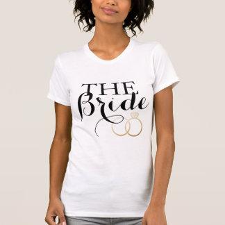 Blanc les anneaux d'or Bachelorette de JEUNE T-shirt