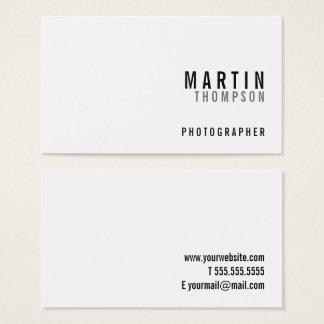 Blanc minimaliste professionnel cartes de visite