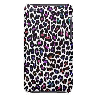 Blanc multicolore de léopard coques barely there iPod