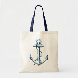 Blanc nautique de bleu marine de cadeau de sac