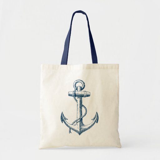 Blanc nautique de bleu marine de cadeau de sac fou