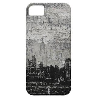 Blanc noir de Scape de ville urbaine sale Coque iPhone 5