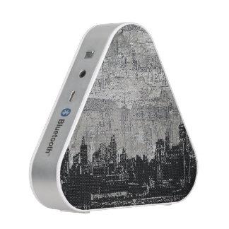 Blanc noir de Scape de ville urbaine sale Haut-parleur Bluetooth