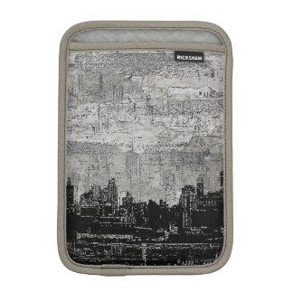 Blanc noir de Scape de ville urbaine sale Housses iPad Mini