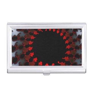 Blanc noir rouge de fractale boîtiers pour cartes de visite