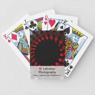 Blanc noir rouge de fractale cartes à jouer