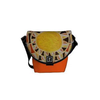 Blanc noir rouge jaune-orange À ÉNERGIE SOLAIRE du Sacoches
