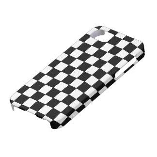 Blanc noir vérifié - cas de l'iPhone 5 iPhone 5 Case