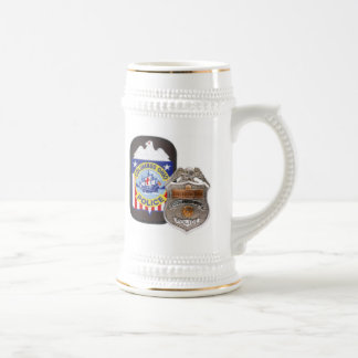 Blanc/or 22 onces. Stein Chope À Bière