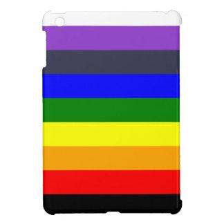 Blanc pour noircir l'arc-en-ciel des espaces coque pour iPad mini