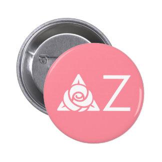 Blanc rose d'icône de Zeta de delta Badge