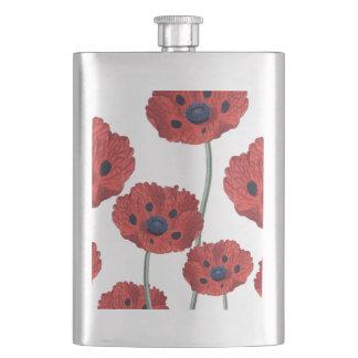 Blanc rouge de pavot flasques