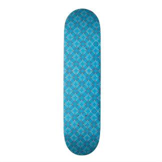 Blanc/rouge/Teal a pointillé la plate-forme de Skateboard 19,7 Cm
