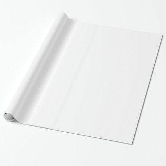 Blanc solide papier cadeau