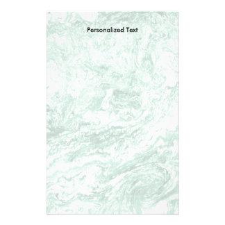 Blanc vert abstrait marbré de la conception   papeterie