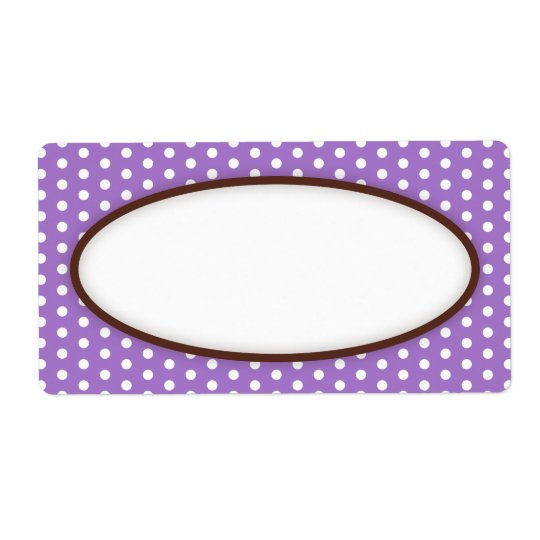 Blanc violet pourpre chic de motif de points de étiquette d'expédition