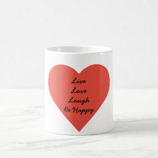 Blanc vivant de rire d'amour tasse blanche