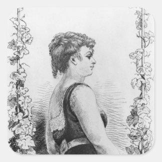 Blanche d'Antigny Sticker Carré