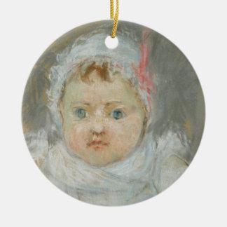 Blanche Pontillon en tant que bébé, 1872 (en Ornement Rond En Céramique
