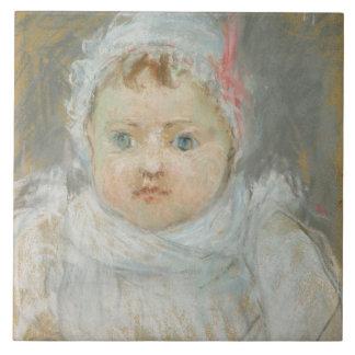 Blanche Pontillon en tant que bébé, 1872 (en paste Grand Carreau Carré