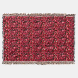 Blanet de jet d'impression de rose rouge couverture