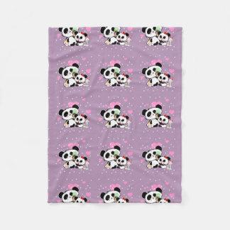 Blankies de motif de pique-nique d'ours panda couverture polaire